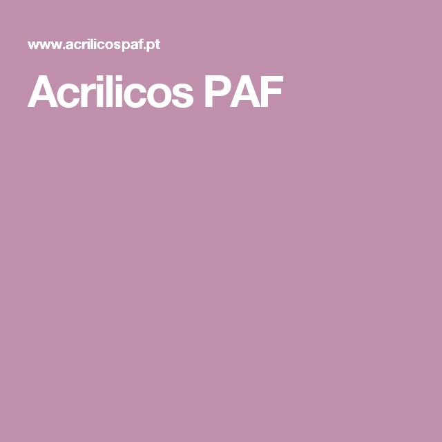 Acrilicos PAF