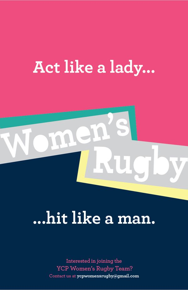 Act like a lady... Rugby Posters by Emily Karsh