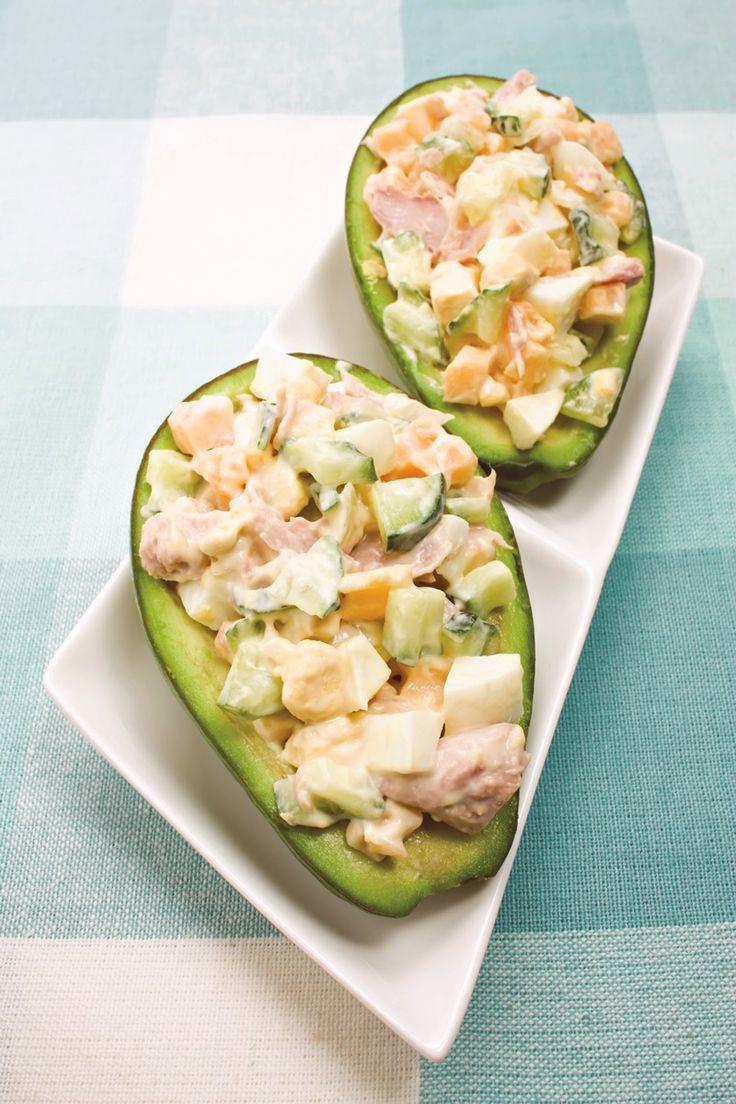 Avocado Crab Salad or Crab Salad Stuffed Avocados