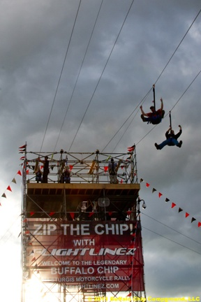 The Zipline at the Sturgis Buffalo Chip