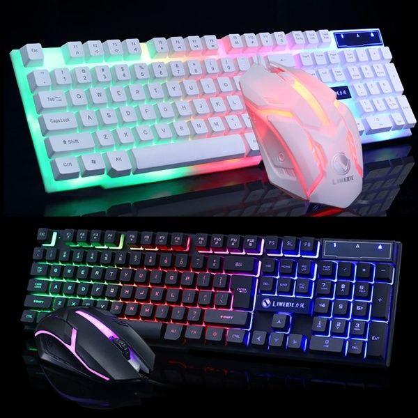 LED USB Wired Keyboard Gaming Backlit Mechanical Keyboard Gamer For PC Game