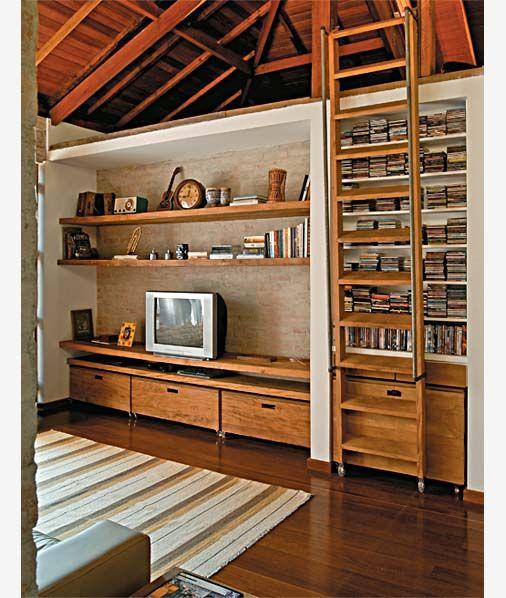 Clima de campo nos 78 m² desta casa urbana - Casa lindo móvel de sala