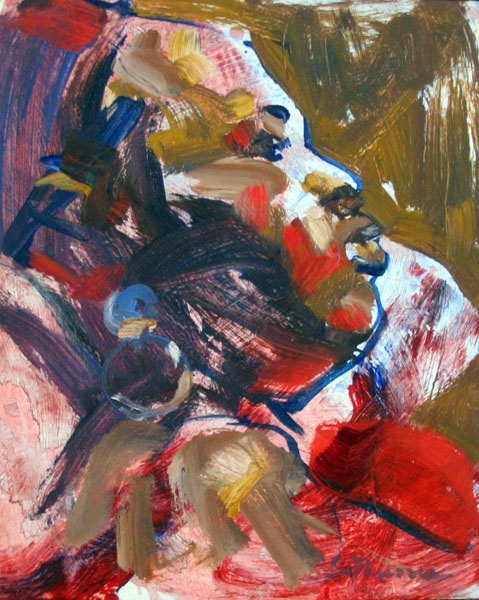 Untitled portrait by Sandy Parsons.  #Art #Painting #Portrait #figure #contemporary