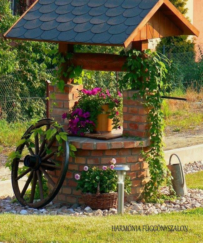 Gyönyörű szép kerti díszek és ásott kutak. - MindenegybenBlog
