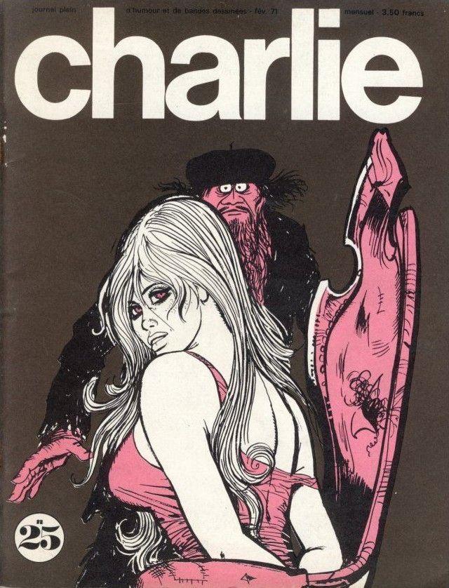 Charlie Mensuel - # 25 - Février 1971 - Couverture de Pichard