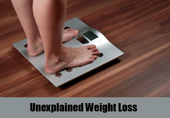 unexplained weight loss without other symptoms