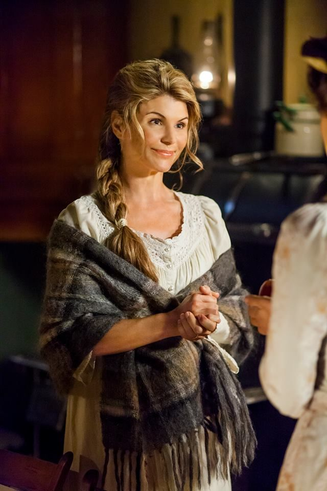 """Strong leader """"Abigail Stanton"""" ( Lori Loughlin) welcomes new teacher """"Elizabeth Thatcher"""" ( Erin Krakow) with open arms to a quaint mining community in which she will call her new home in WHEN CALLS THE HEART premiering Saturday, January 11 9/8C only on Hallmark Channel USA"""