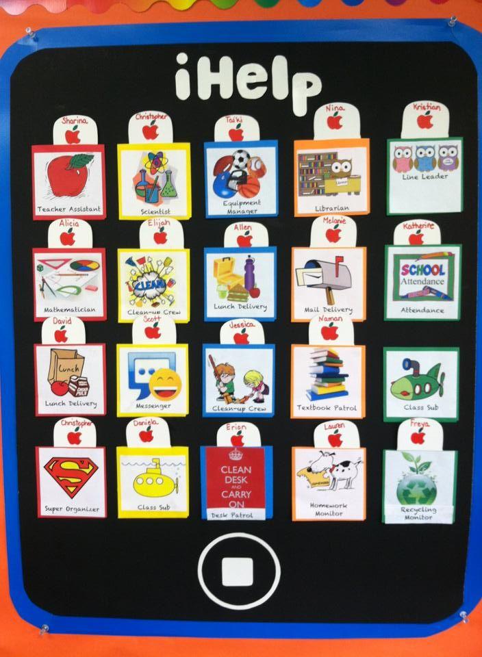 Modern Classroom Jobs ~ My new classroom job chart love it jobs
