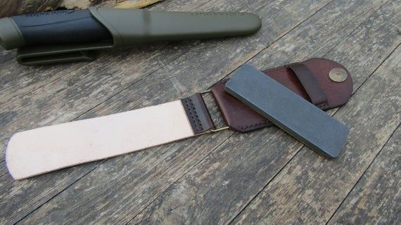Handmade Leather Replacement Cover For Fallkniven Dc4 Sharpening