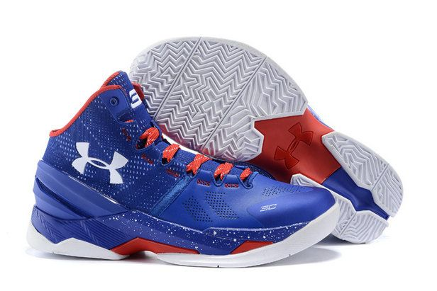 Free Shipping Only 69$ Big Boy Youth UA Steph Curry 2 Game Royal University  Red