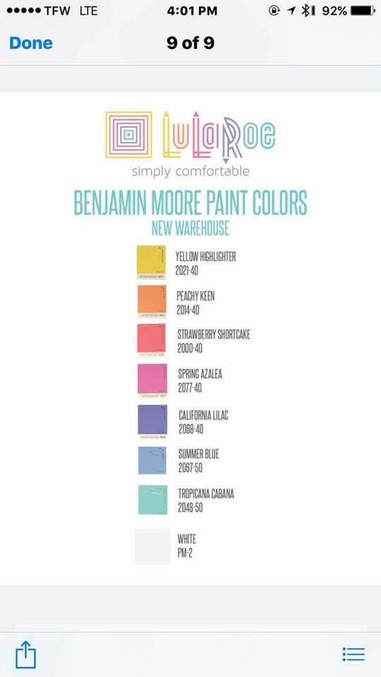 Lularoe Paint Colors Behr