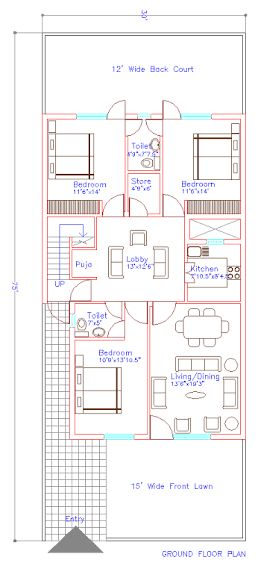 Image result for house plans of 30 75 residence plans for 25x30 house plans