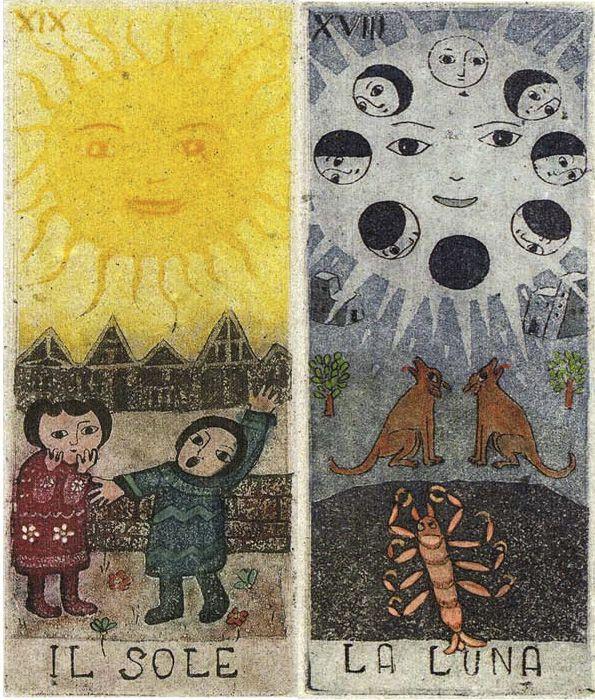 Image result for la luna carta tarot
