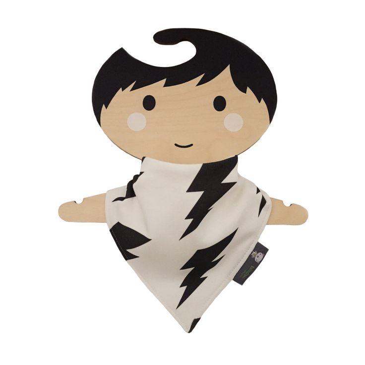 Bandana dribble bib, baby bib, organic cotton, teething baby, black & white…