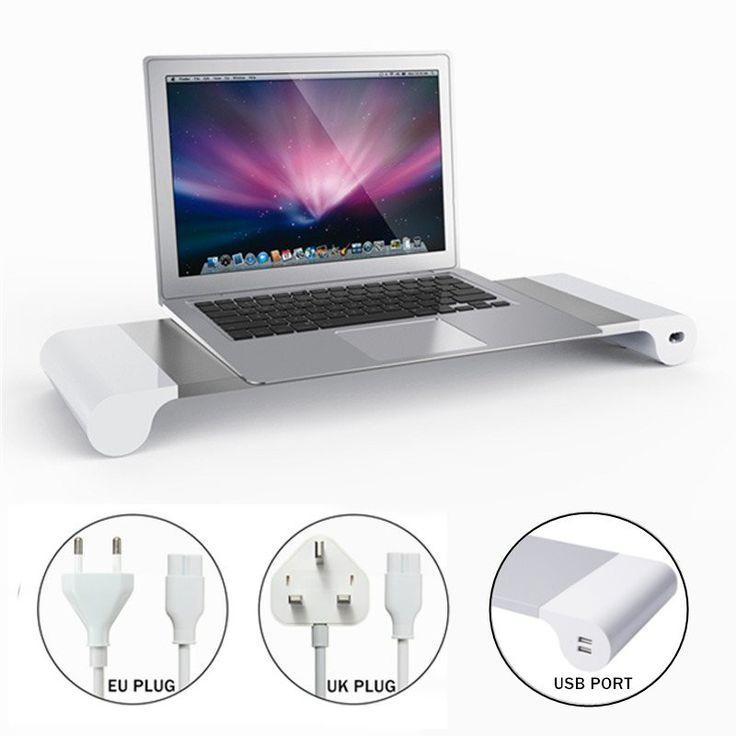 Компьютерный монитор Riser Сохранить Space TV Stand Развлекательный центр Storage + 4 порта USB-зарядное устройство для ТВ-ноутбука