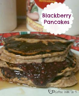 Blackberry Pancakes by Coffee With Us 3 /Easy, yummy pancakes with fresh berries #breakfast #recipes