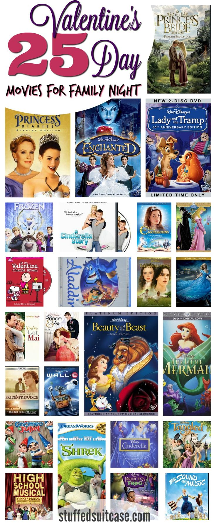Valentine's Day doesn't just need to be for couples. Here are 25 Valentine's Day movies perfect for your next family movie night, they're great for the whole family!