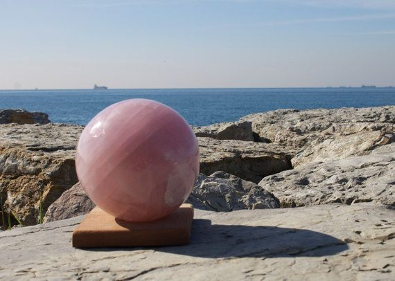 FREE SHIPPING A Quality Rose Quartz Sphere by TherapyStonesOne