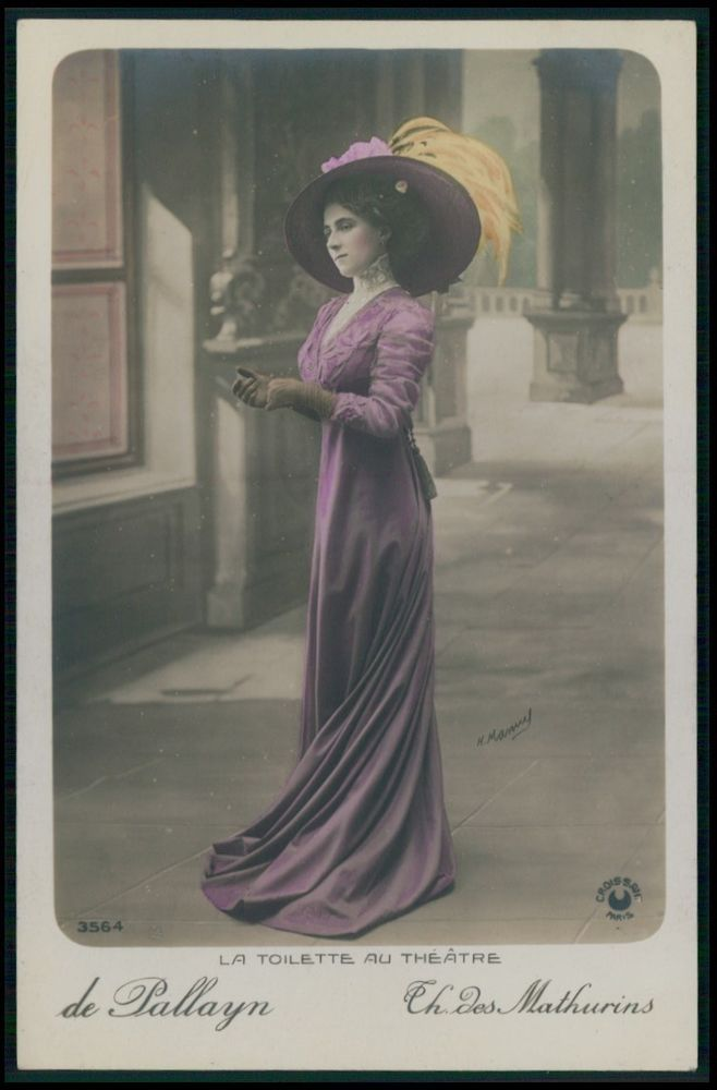 Pallayn Lady Mathurins Edwardian Theatre Fashion dress 1910s photo postcard