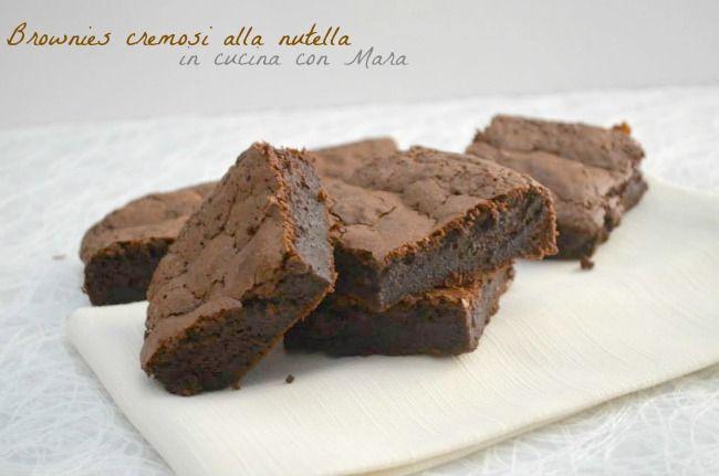 Brownies cremosi alla nutella