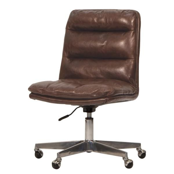 Hallam Leather Office Chair Best Office Chair Brown Leather