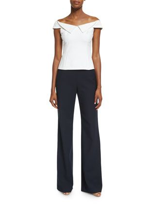 William+Off-the-Shoulder+Crepe+Top+&+Focal+Wide-Leg+Crepe+Pants+by+Opening+Ceremony+at+Bergdorf+Goodman.