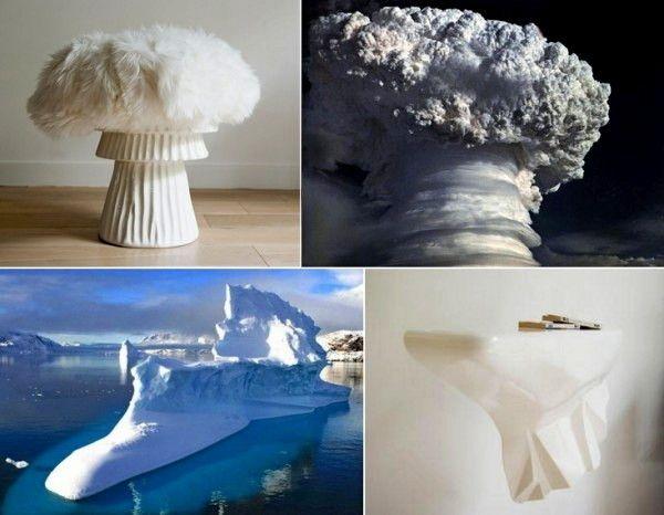 """Stool и Console: """"природная"""" мебель от Александра Даваль (Alexandre Daval)  Гигантский айсберг, расположенный во фьорде Скорсби в Гренландии, и ужасающе-завораживающее зрелище извержения вулкана - те самые порождения природы, которые стали созидательной музой для французского дизайнера Александра Даваля (Alexandre Daval). Вдохновившись этими мощными проявлениями силы матушки-природы, дизайнер создал для своей компании  manifeste™ небольшую коллекцию необычной мебели. Всего лишь два предмета…"""