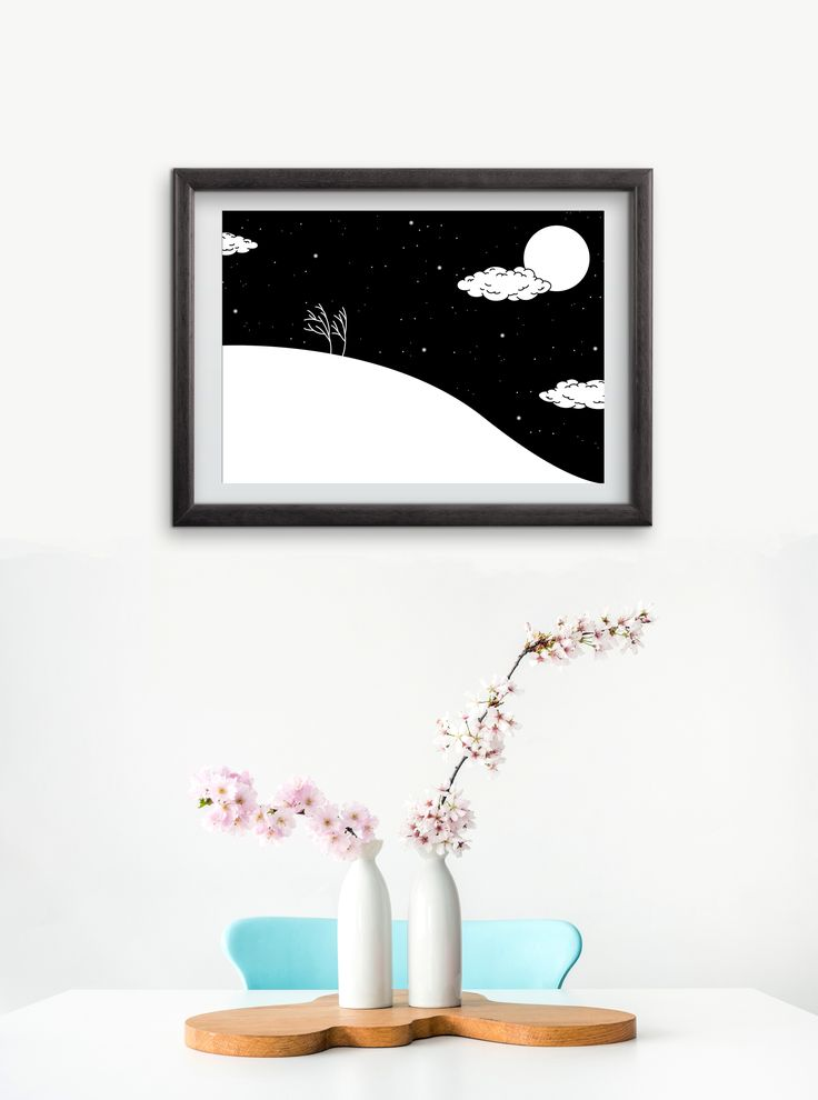 I love this time of year, when the wind softly strokes your cheeks and Nick Drake's 'Pink Moon' is playing in repeat in the background while you work. Autumn is awesome. Can't wait for the winter to come! ⛄ A new print by yours truly.