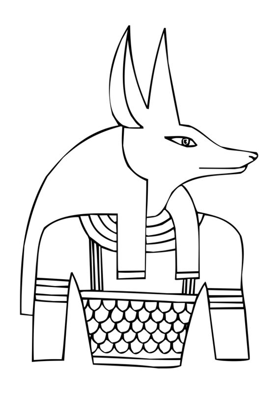 Ancient Egyptian Gods - Anubis - Free clip art designed to help you with drawing.