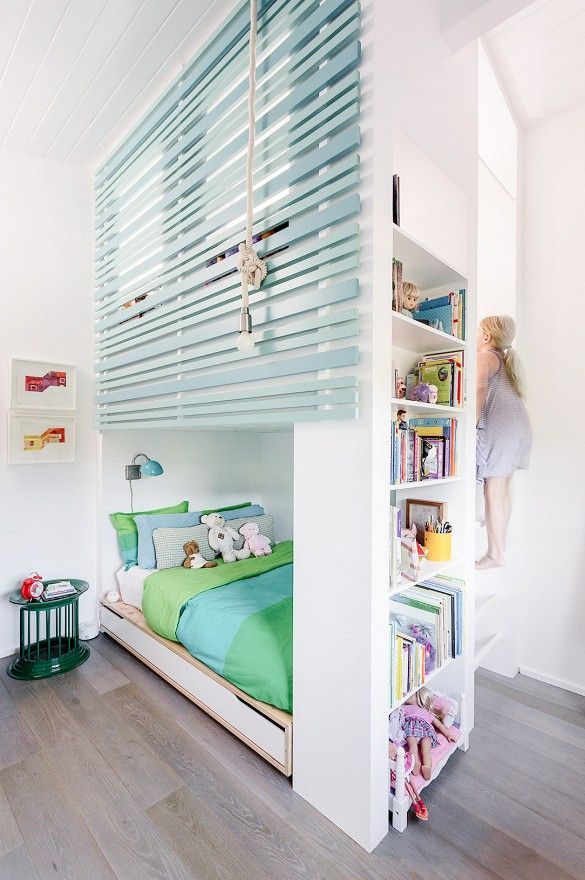 Home Tour: Inside An Interior Designer's Midcentury Renovation via @domainehome | What a fun space for your child. | Kids Bedroom