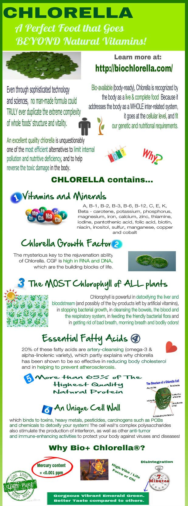 Nutrition Chlorella Info