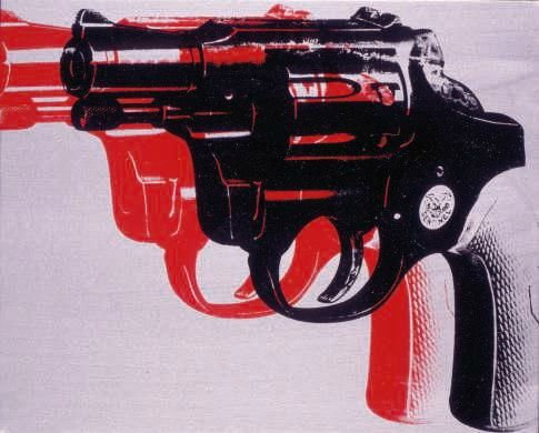 Andy Warhol, Guns, 1981. Private Collection. © 2016 The Andy Warhol Foundation.