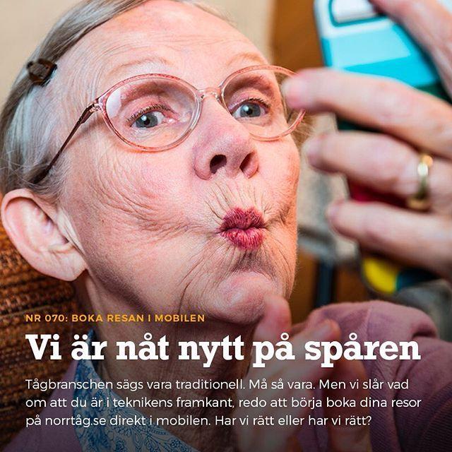 En del av vår kampanj för Norrtågs nyheter. Ett samarbete med Smeder Ord & Tanke. #norrtåg #tagkompaniet @smedrika
