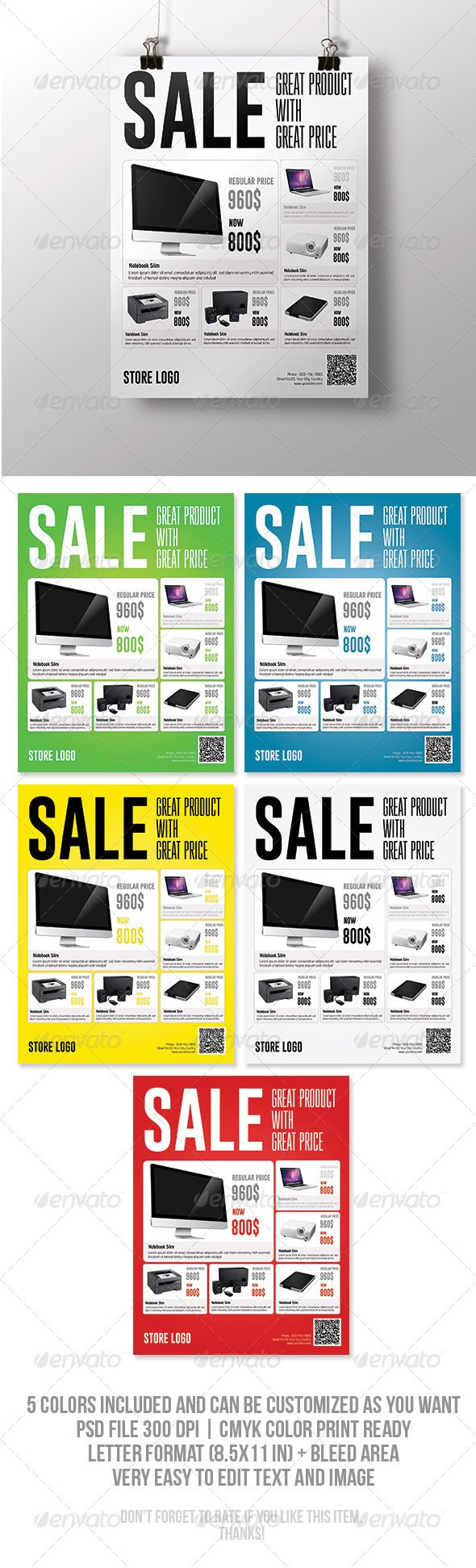 Flyer Pinterest Sale Flyer Psd Templates And Template