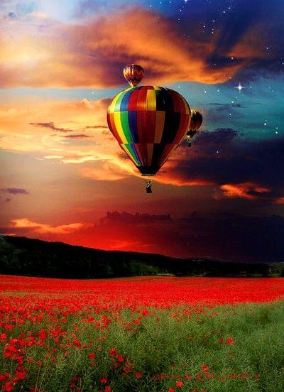 Hot Air Balloon #balloons, #nature, #pinsland…