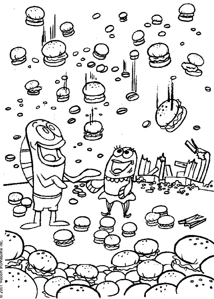 krabby patty coloring pages - photo#22