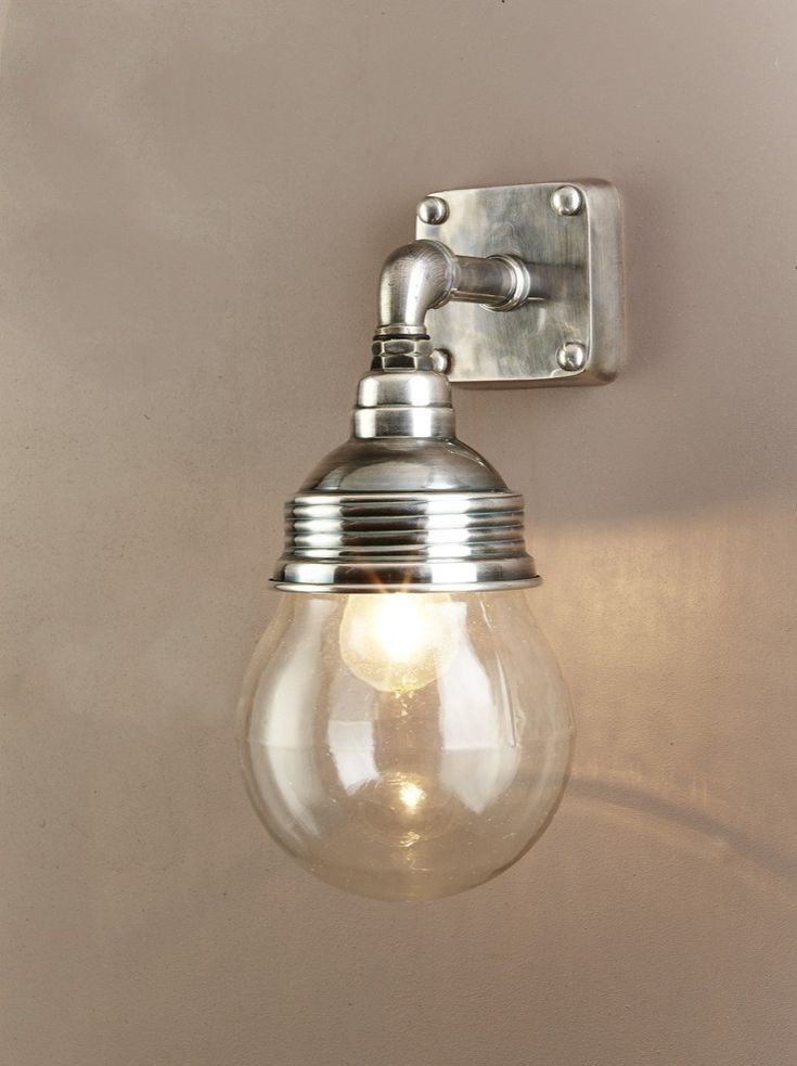Emac and Lawton-Dover Wall Lamp in Antique Silver