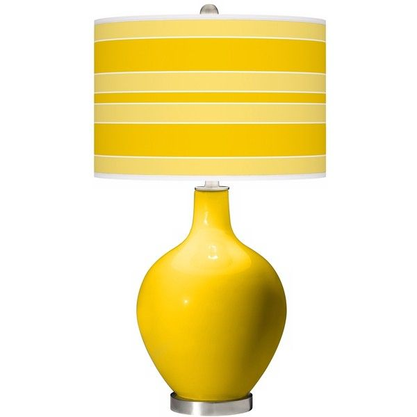 citrus bold stripe ovo table lamp 150 liked on polyvore featuring home