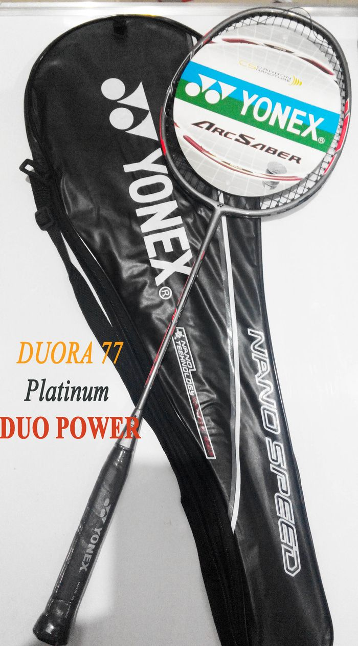Raket Badminton Yonex DUORA 77 PLATINUM Extended GOLD Edition