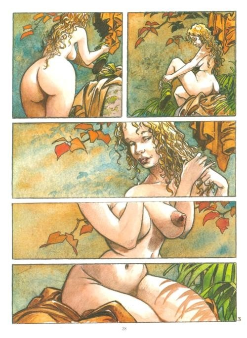 'Troubles Fêtes', Regis Loisel: Cartoon Fun, Comic Image, Régis Loisel, Regis Loisel, Erotic Comic, Ninth Art, Erotic Art, Sexy Comic, Regi Loisel