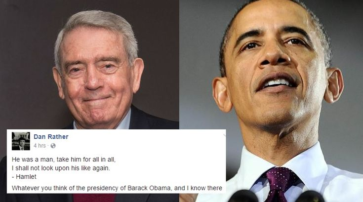 Dan Rather Just Went Viral With This Final Farewell To Obama