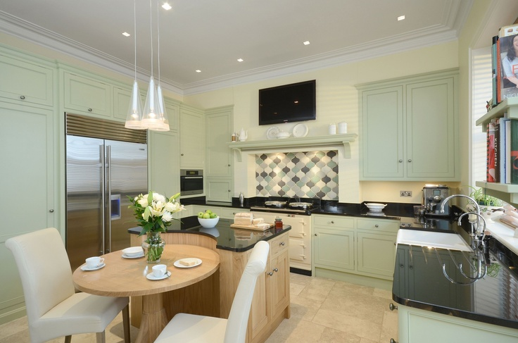 green apple kitchen bespoke kitchen by secret drawer painted in farrow amp 1345