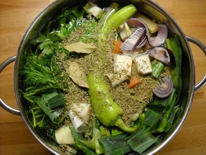 ζωμός λαχανικών-προετοιμασία