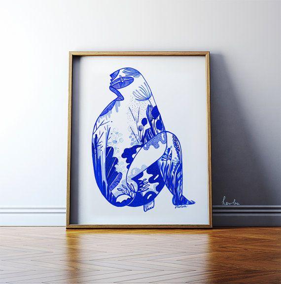 Blue Monstera by Gosia Herba. Poster.  https://www.etsy.com/uk/listing/196570498/blue-monstera-must-have-modern-art-high