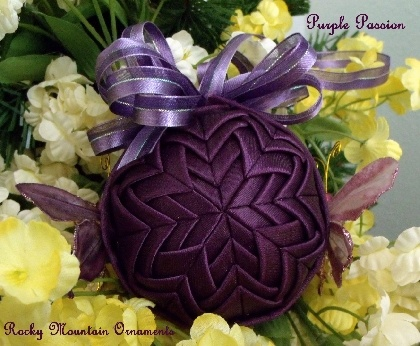 Purple Passion Quilted Ornament