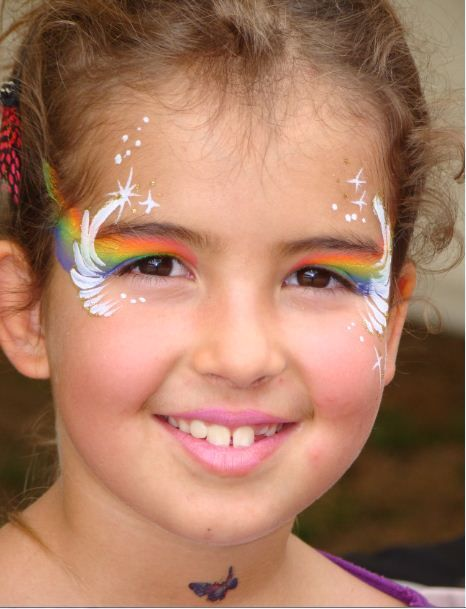 Rainbow face painting | Carlee | Pinterest