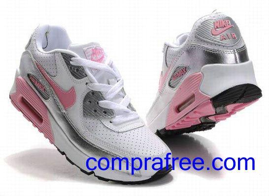 Comprar baratos mujer Nike Air Max 90 Zapatillas (color:blanco,rosado,negro) en linea en Espana.
