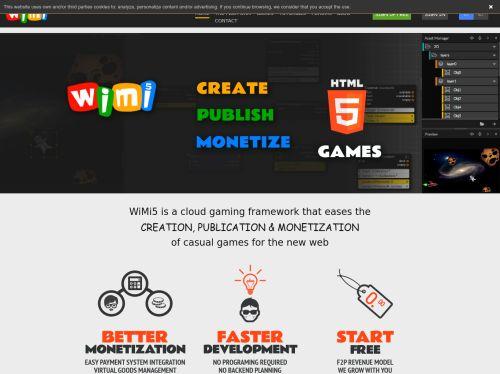 WiMi5: WiMi5 allows to create, publish & monetize HTML5 games