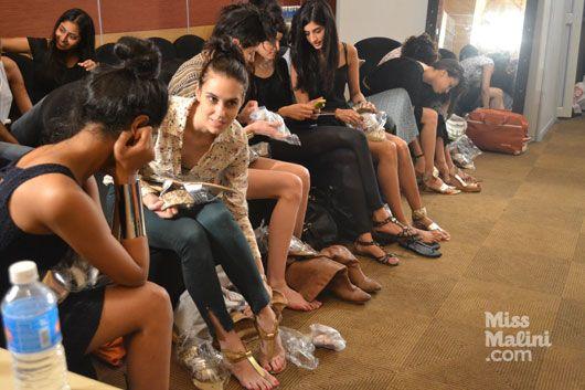 Behind The Scenes. Lakme Fashion Week. The Jaipur Bride 2013.