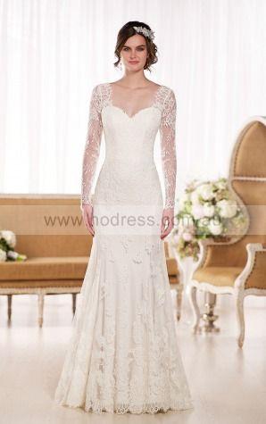 Mermaid Sweetheart Natural Long Sleeves Floor-length Wedding Dresses wes0261--Hodress